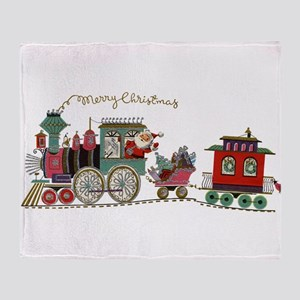 Christmas Santa Toy Train Throw Blanket